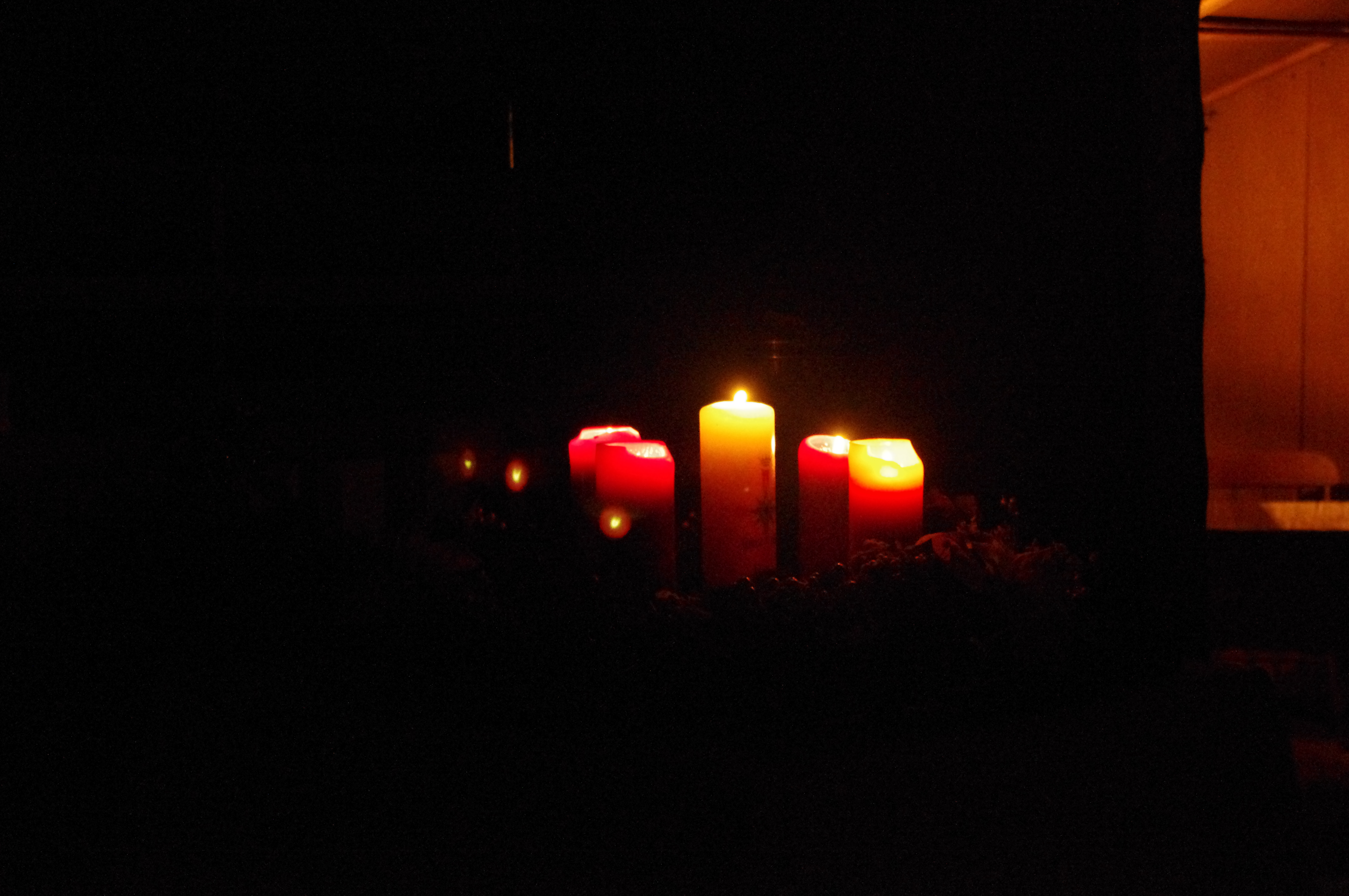Candles in the dard