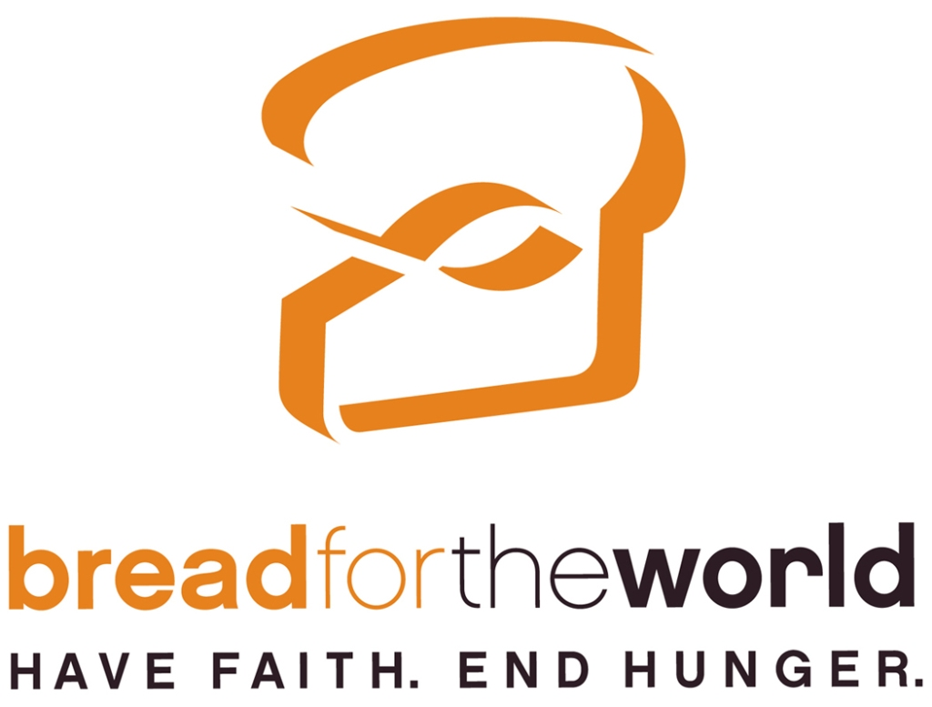 Stylized fish and bread logo for the Bread for the World organization