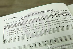 Image of Open hymnal
