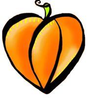 Stylized pumpkin logo that also looks like a heart