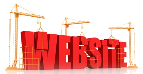 Graphic of building a website