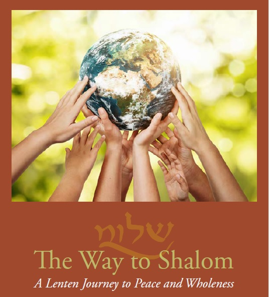 """Book cover of """"The Way to Shalom"""" - hands holding up a globe of Earth"""